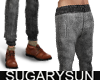 /su/ DENIM JOGGER GREY