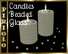 Candles-Beaded Glass