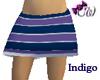 Indigo Stripe Skirt