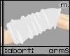 :a: Whte PVC Armwarmer M