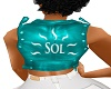 SOL LEATHER TEAL VEST