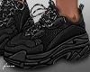 f. black sneakers