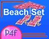 P4F Luau Pink Beach Set