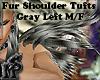 Fur Shoulder Tufts L M/F