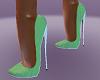 stripish Green Heels