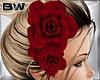 Spring Burgundy Rose Pin