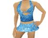 blue metalic top & skirt