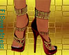 FLS Sandals - Red Gold