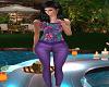 Sassy Purple Cargo Pants