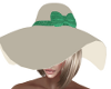 Polston Cream/Green Hat