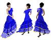 Blue flamenco, ruffles