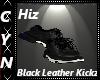Hiz Blk Leather Kickz