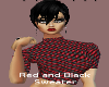 (QDH) Red/Black sweater