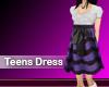 (M) Teens Dress Purple