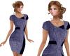 TF* Designer Dress Navy