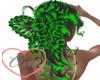 Butterfly Ele Green Blac