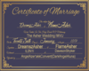 Asher Wedding Certificat
