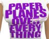 Girl*purple planes tee