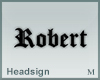 Headsign Robert