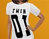 Twin 01 Shirt White (F)