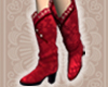 Paper-cut Boots RED