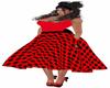 Vestido rojo lunares 50s