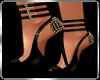 Black/Gold Spiked Sandal