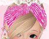❥ pink zebra bandana