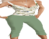 Green Capris  Outfit
