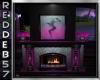 Fuchsia Fireplace
