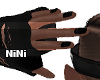 FN Male Hands black Nail
