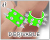 *DoNa*DRV Spiked Bracele