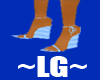 ~LG~ BLUE PASTEL WEDGE