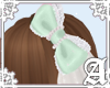 Dolly Cat Bow~ Mint