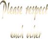 {cmm} gold respect sign