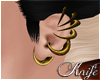♆ Gold Earcage 'F
