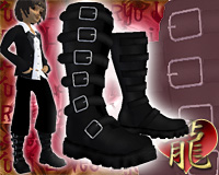 Ryu Raven Buckled Boots