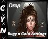 RubynGold Drop Earrings