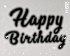 n| Black Birthday Sign