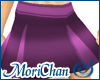 Box Pleated Skirt Purple
