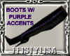 ! Witch Boots BlackPurpl