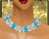 ~D~ BLUE DIAMOND NECKLET