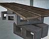 Plank Bricks Table