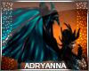 A~ Demon Wings Aqua Blk