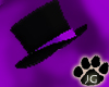 black/purple tophat
