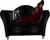 Black Silver Kiss Couch