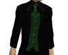 Black Green 3 Piece Suit