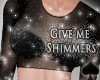 Cat~ Shimmer Top .L