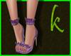 Purple sandals Kylie