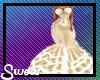 xxl gold flare dress